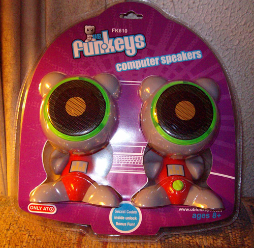 Funkeys Speakers in Packaging